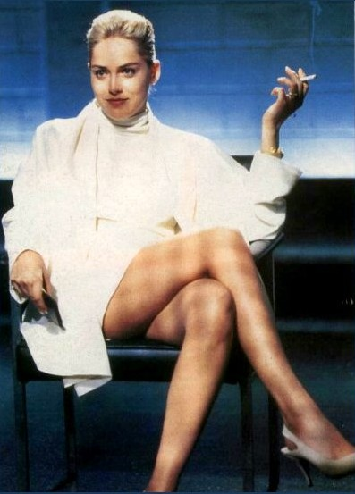 Sharon Stone in her classic Basic Instinct role.